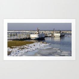 Fish boats Art Print
