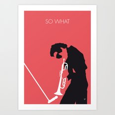 No082 MY Miles Minimal Music poster Art Print