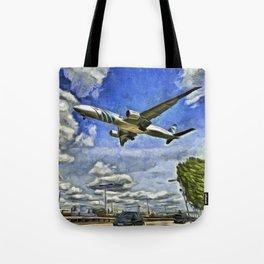 Airliner Vincent Van Gogh Tote Bag