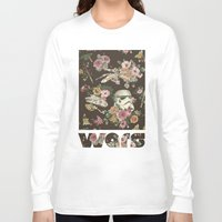 geek Long Sleeve T-shirts featuring Botanic Wars by Josh Ln