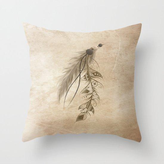 Bohemian Feather Throw Pillow