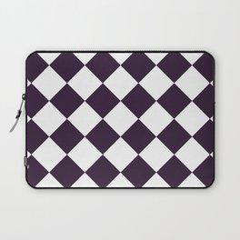Large Diamonds - White and Dark Purple Laptop Sleeve