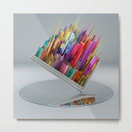 El espejo Metal Print