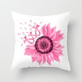 Ribbon Flower Throw Pillow