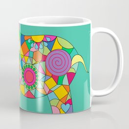 Geometric Colorful Elefant Coffee Mug