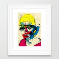 kandinsky Framed Art Prints featuring 041112 by Alvaro Tapia Hidalgo