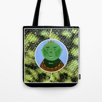dino Tote Bags featuring Dino by Jolly Songbird