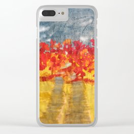 Flowery Road Clear iPhone Case