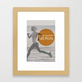 Log Off Shut Down Go Run Framed Art Print