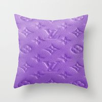 lv Throw Pillows featuring Purple LV  by Luxe Glam Decor