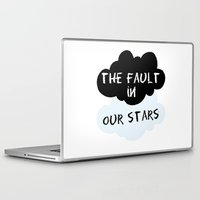the fault in our stars Laptop & iPad Skins featuring The Fault In Our Stars by swiftstore