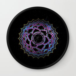 The Colorful Chakra on the Universe No:2 Wall Clock