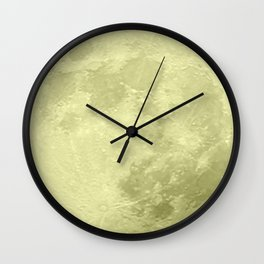 CANARY YELLOW MOON Wall Clock