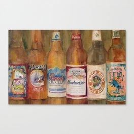 Fat Tire, Alaskan, Coors Light, Budweiser, Mirror Pond, IPA Canvas Print