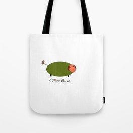 Olive Ewe. Tote Bag