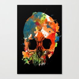 water color skull Canvas Print
