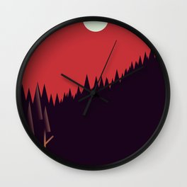 A Cabin in the Wood Wall Clock