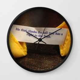 Fortune Cookie - Fruit from the Tall Trees Wall Clock