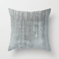 concrete Throw Pillows featuring CONCRETE by HUXHUX