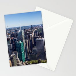 New York City at Empire State Building Stationery Cards