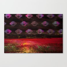 Cosmic landscape collage Canvas Print