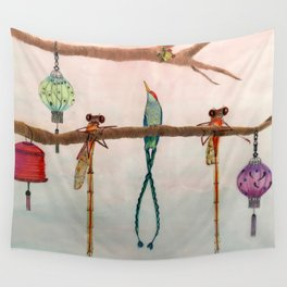 Evening Chat Wall Tapestry