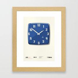 Wall clock for public facilities HA8 - Iskra Framed Art Print