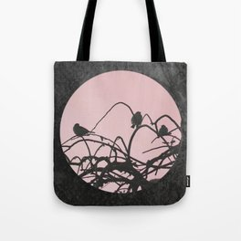Chinese sparrow with marble Tote Bag