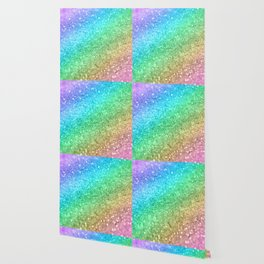 Rainbow Princess Glitter #1 #shiny #decor #art #society6 Wallpaper