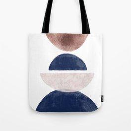Semicircle Geometric II Art Print Tote Bag