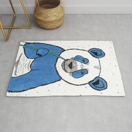 Blue (not sad) Panda Rug