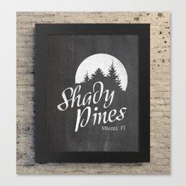 Golden Girls TV Show Chalkboard Art | Shady Pines | Dorothy, Sophia, Rose, Blanche Canvas Print