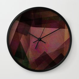 Kiwi Shapes - Digital Geometric Texture Wall Clock