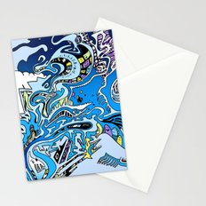 Swimming in the mind Stationery Cards
