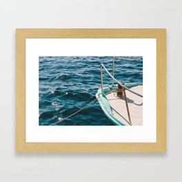 BOAT - WATER - SEA - PHOTOGRAPHY Framed Art Print