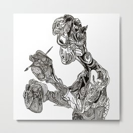 ''What was I painting again?'' Metal Print