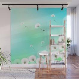 Dandelion Fluffs Wall Mural