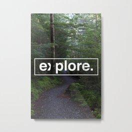 explore. Metal Print