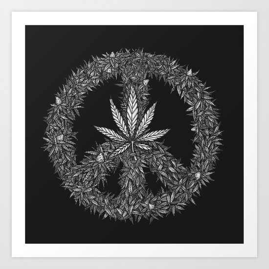 Green Peace Art Print