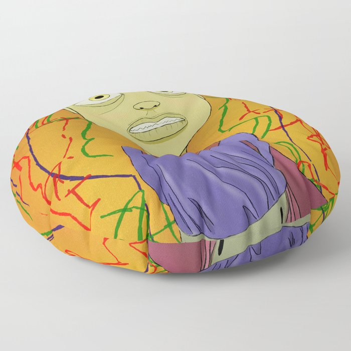 """Crayola"" Illustrated by Kieran David Floor Pillow"