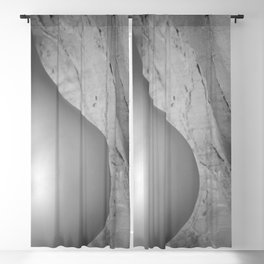 4063 Closeup B&W Nude Woman Naked Desert Feminine Nature Classic Female Form Beautiful Blackout Curtain