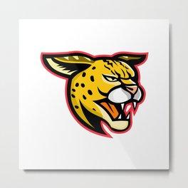 Serval Wild Cat Mascot Metal Print