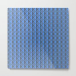 Blue abstract geometric pattern. Pyramid. Rhombuses and triangles. Metal Print