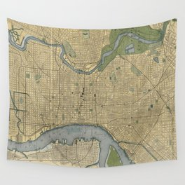 Vintage Map of Philadelphia PA (1895) Wall Tapestry