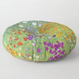 Flower Garden - Gustav Klimt Floor Pillow