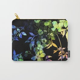 garland of flowers black version 2 Carry-All Pouch
