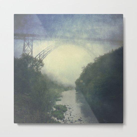 Bridge - River - Fog Metal Print