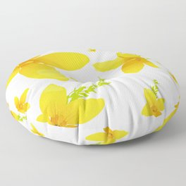 Forsythia flowers Floor Pillow