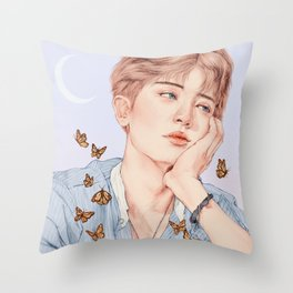 butterfly boy [chanyeol exo] Throw Pillow
