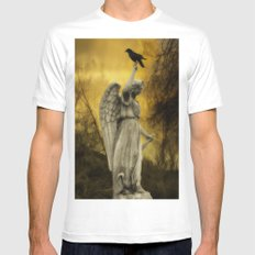 Golden Eclipse White MEDIUM Mens Fitted Tee